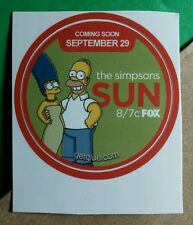 SIMPSONS SUN HOMER MARGE GREEN FOX CARTOON TV GET GLUE STICKER