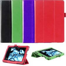 "Genuine Leather Folio Smart Case Cover For Kindle Fire HDX 8.9"" inch Tablet"