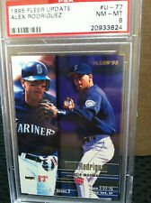 1995 Fleer Update # U-77 Alex Rodriguez PSA Graded 8
