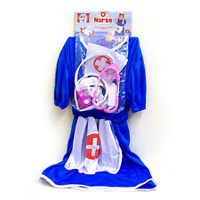 Childs Kids Nurse Hospital Fancy Dress Up Role Play Costume Outfit 3-6yrs BURS