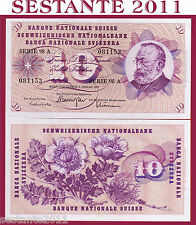 SWITZERLAND / SVIZZERA - 10 FRANKEN 6.1. 1977 sign. 46   - P 45u - FDS / UNC