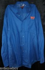 Red House Blue Warn Winches Salesman Button Up Shop Shirt Men's L