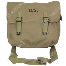 US M1936 Musette Bag and Strap - Olive Drab reproduction WW2 canvas pack