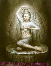 "Art Repro oil painting:""Kwan-yin portrait at canvas"" 24x36 Inch #017"