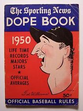 The Sporting News DOPE BOOK 1950 J. G. T Spink PB BASEBALL Jackie Robinson - W1