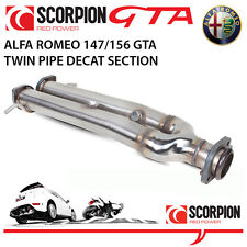 Alfa Romeo 147 GTA 3.2 V6 Scorpion DECAT Twin Pipe Section (replaces O.E cats)