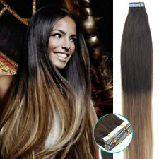 Seamless Tape in Skin Weft Brazilian Remy Human Hair Extensions 20-40Pcs 20Inch