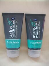BOOTS Tea tree & Witch hazel daily detox facial wash scrub with active charcoal