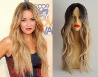 DELUXE LAUREN CONRAD LONG BLONDE OMBRE WAVY HEAT RESISTANT CELEBRITY FASHION WIG