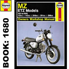 MZ ETZ125 ETZ150 ETZ250 ETZ251 ETZ300 1981-95 Haynes Workshop Manual