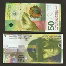 Pair 2012 / 15 Switzerland 50 Franken Last & First Run Uncirculated