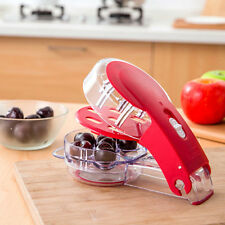 Multi Cherry Pitter Fruit Core Seeds Remover Extractor 6 Capacity Press Olives