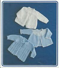 Vintage Knitting Pattern Matinee Coats in 4 ply