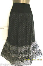 PER UNA @ M&S STUNNING BLACK  MIX  SKIRT SIZE 20/36 L  BNWT