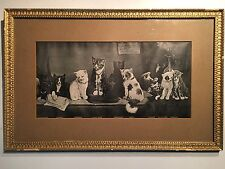 Antique Women's Rights Print Cat Meeting Feminist Poster Liberation Suffrage