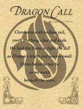 DRAGON CALL Parchment Page for Book of Shadows!