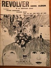 THE BEATLES - 'REVOLVER' 8 HIT BEATLE SONGS OZ 1966 - VINTAGE SHEET MUSIC - RARE