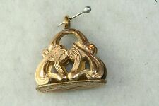 ANTIQUE GOLD FILLED INITIAL RR WATCH FOB