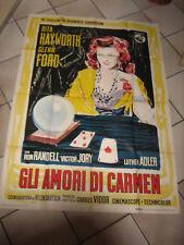 GLI AMORI DI CARMEN,RITA HAYWORTH,FORD,MANIFESTO