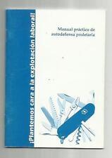 LIBRO MANUAL PRACTICO DE AUTODEFENSA PROLETARIA,28 PAGINAS,RARO UNICO PARA VENTA