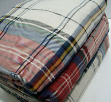 Cuddl Duds Heavyweight Red Green Blue Multi Colors Plaid Flannel Queen Sheet Set