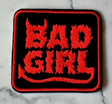 Bad Girl Red IRON ON PATCH Aufnäher Parche brodé patche toppa lady biker rider