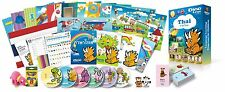 Thai for Kids Deluxe set, Thai learning DVDs, Books, Posters, Flashcards