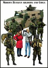 modern russians and girls. 1/35  10 resin figures. Complete series. Model kits