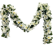 CREAM IVORY DAISIES Chain Garland ~ 5 ft Silk Wedding Flowers Arch Gazebo Decor