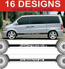 mercedes vito side stripe decals surf animal ect sticker