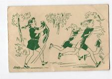 1946    ARTIST SIGNED HAGG   GIRL SCOUT'S OF AMERICA CAMP  POST CARD     377