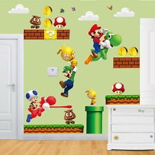 Super Mario Bros Kids Removable Wall Sticker Decals Nursery Home Decor Vinyl P