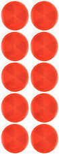 10 pcs Universal Red Round Reflex Retro Reflector 61mm Self Adhesive E20 NEW