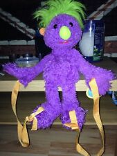 The Hoobs - Purple Iver Soft Plush Toy Bag /Backpack