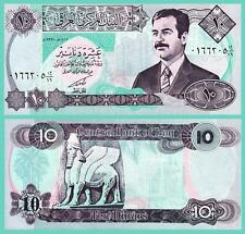 IRAQ 10 DINARS 1992 UNC 5 PCS LOT P.81 WITH SADDAM HUSSEIN