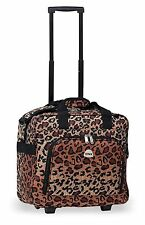 Cheetah Rolling Carry On LightWeight Duffle Tote Bag Luggage Suitcase Wheels