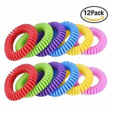 12pcs Camping Insect Anti Mosquito Protection Repellent Bracelets Wrist Band