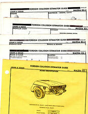 MAZDA RX-2 RX2 COUPE SEDAN BODY PARTS LIST FRAME ORIGINAL RARE CRASH SHEETS MF 2