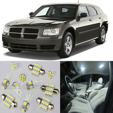 11pcs White Interior LED Light Package Kit for Dodge Magnum 2005-2008