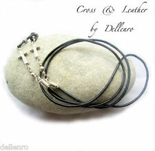 ✫CROSS & LEATHER✫ANTI TWIST EYEGLASS GLASSES SPECTACLE CHAIN HOLDER  CORD