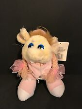 """Kids Plush Yellow Mouse w Pink Velvety outfit Shoes Bow Braided Pigtails Tag 8"""""""