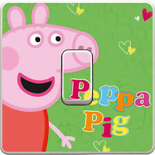 Peppa Pig Light Switch Sticker, Decal, Skin, Cover - Kids Bedroom #207