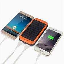 External Battery 50000mAh 2 USB LED Power Bank Solar Charger For Mobile Phones