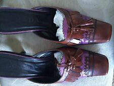 $490 Authentic Parda All Leather Closed Mules Sz. 6 (36 Eur)