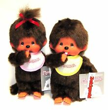 A Pair of Original Sekiguchi Monchhichi Dolls Girl and Boy Monchichi Monkey