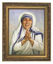 Saint Mother Teresa Framed Print NEW 11 x 13 Inches Under Glass