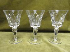 3 verres à vin blanc cristal saint Louis Camargue (crystal wine glasses)