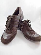 NINE WEST Ryano Euro Style Oxfords Brown Suede Sz 9M Leather & Textile Shoes