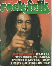 """ROCK & FOLK n°124 mai 1977"" Bob MARLEY (Photo Laurens VAN HOUTEN)"