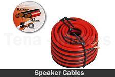 5m 0.75 Cuadrado mm Altavoz Rojo Y Negro Doble Cableado Cable Cables /98715